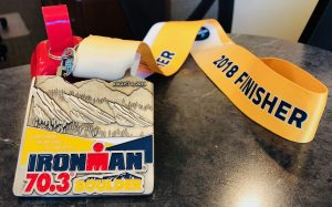 IRONMAN-70.3-Medal-2018 from Boulder, Colorado race